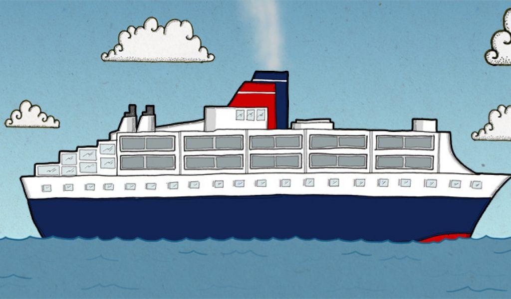 Animated cruise ship clip art transition school clip art.