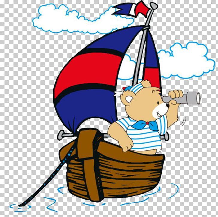 Sailing Ship Cartoon Illustration PNG, Clipart, Animation, Area, Art.