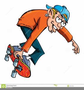 Animated Skateboarding Clipart.
