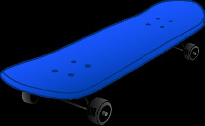 Cartoon Skateboard Clipart.