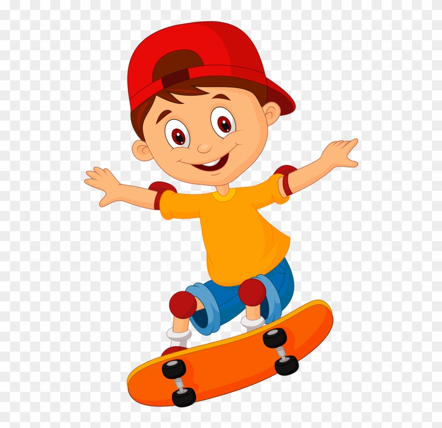 Skateboard Clipart 2 Guy.