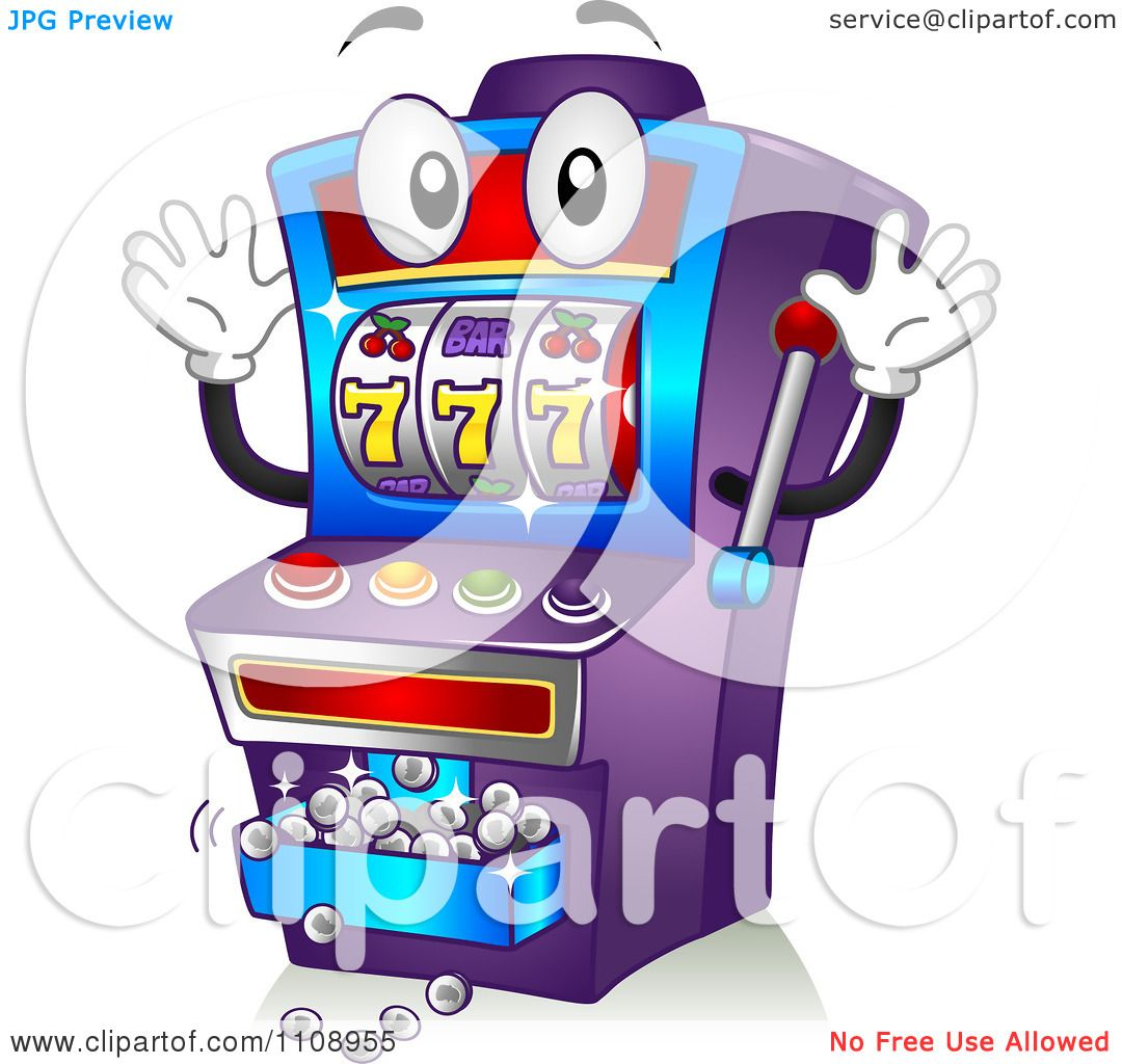 Casino Slot Machines Coloring Page.