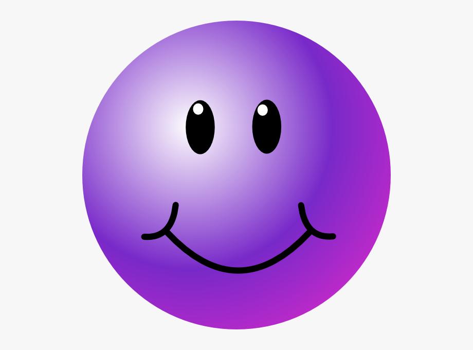 Purple Smiley Face Clip Art.