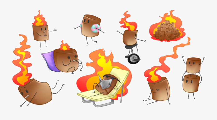 Smores Vector Toasted Marshmallow.