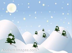 643 Winter Scene free clipart.
