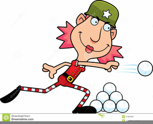 Animated Snowball Fight Clipart.