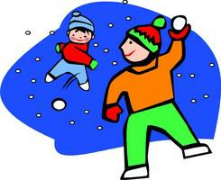 Animated Snow Fight Clipart.