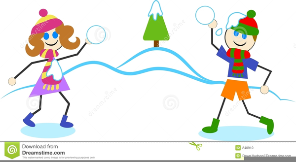 Clipart Of Snowball Fights.