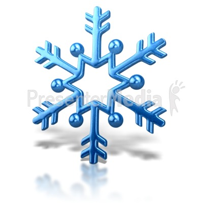Animated Snowflake Clipart.