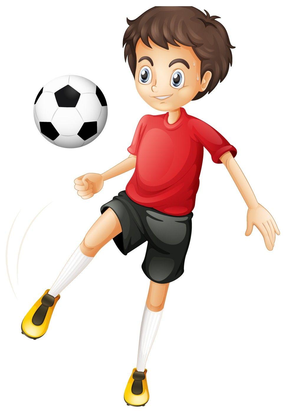Kid Football Player Cartoon Image H.