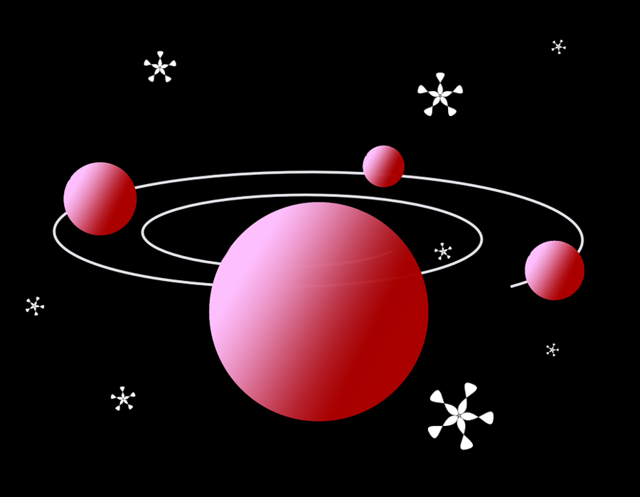 Solar System Background clipart.