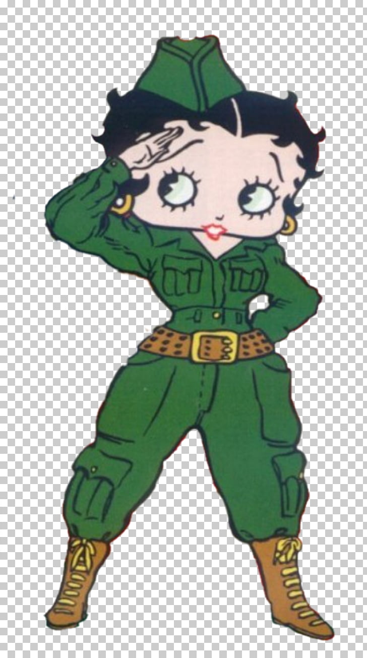 Betty Boop Soldier Cartoon Drawing, Soldier PNG clipart.