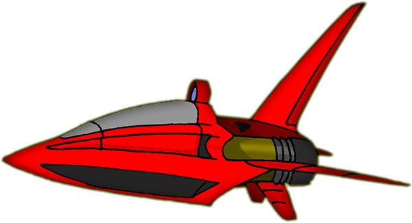 Animated Spaceship Clipart.