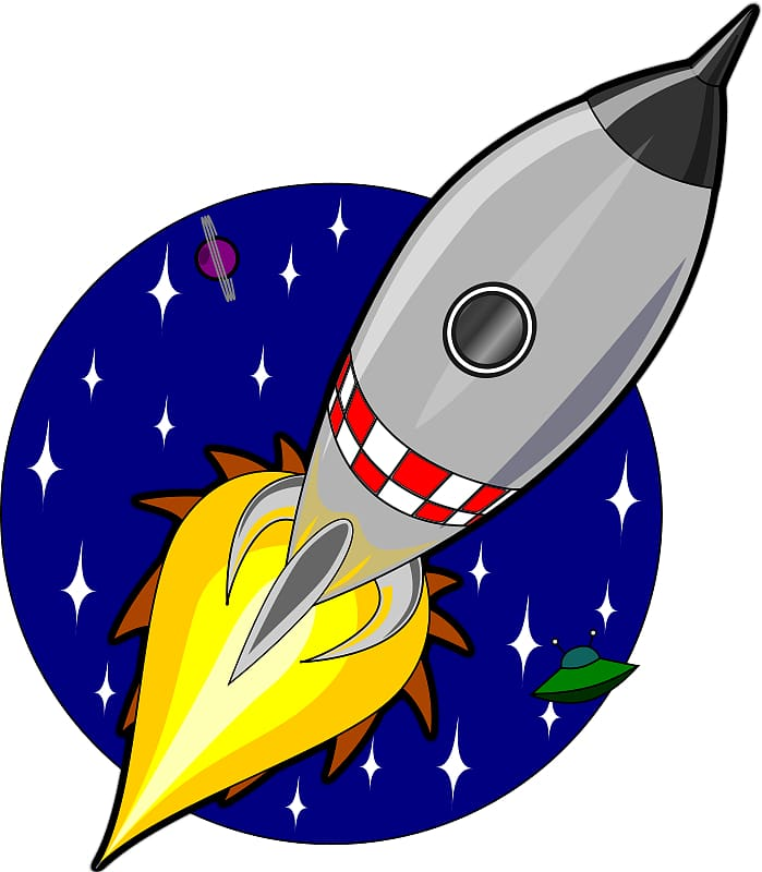 Rocket Spacecraft Animation , Cartoon Spaceship transparent.