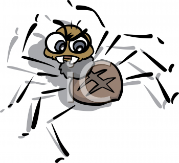 Cartoon of an Angry Spider.