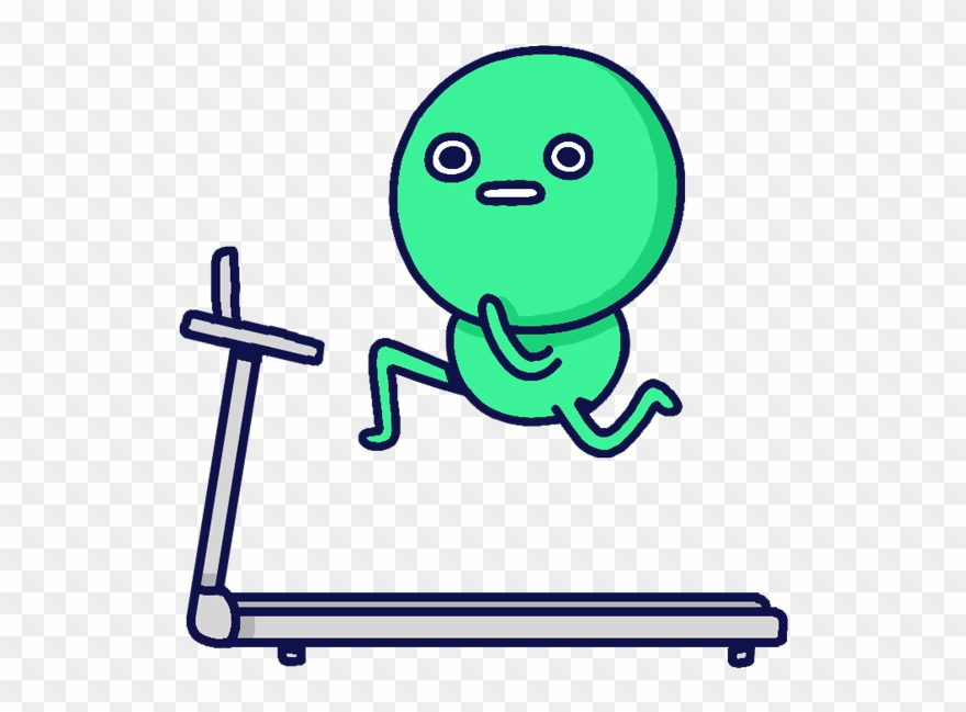 Sports Treadmill Workingout Transparent Sticker Animated.