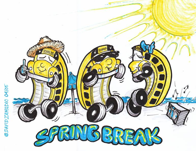 Spring Break dancing school buses.