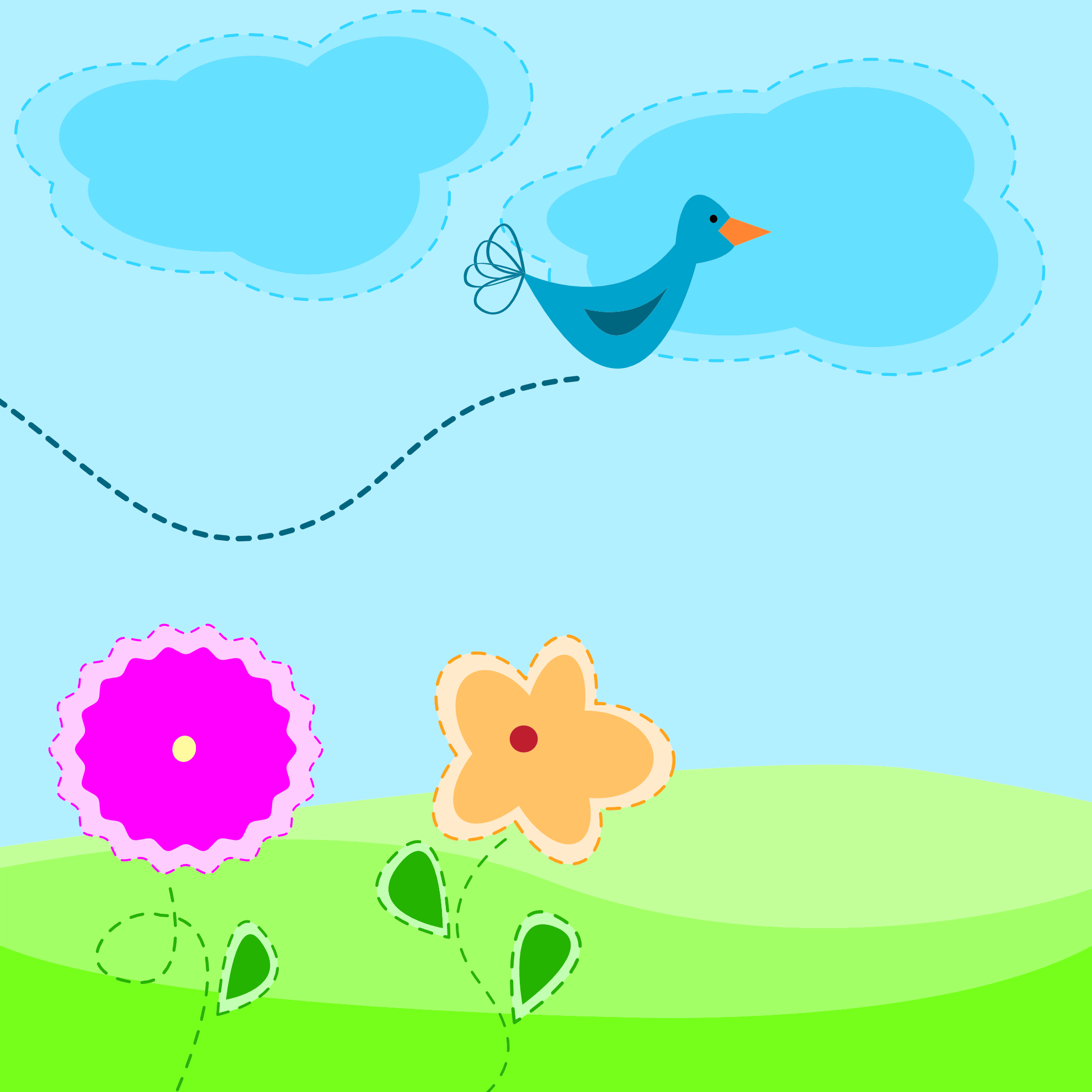 Spring Animated Clip Art.