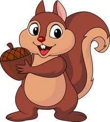 free cute squirrel clip art.