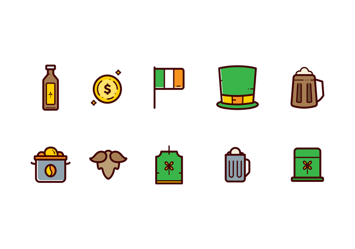 St.Patrick's Clipart Vector.