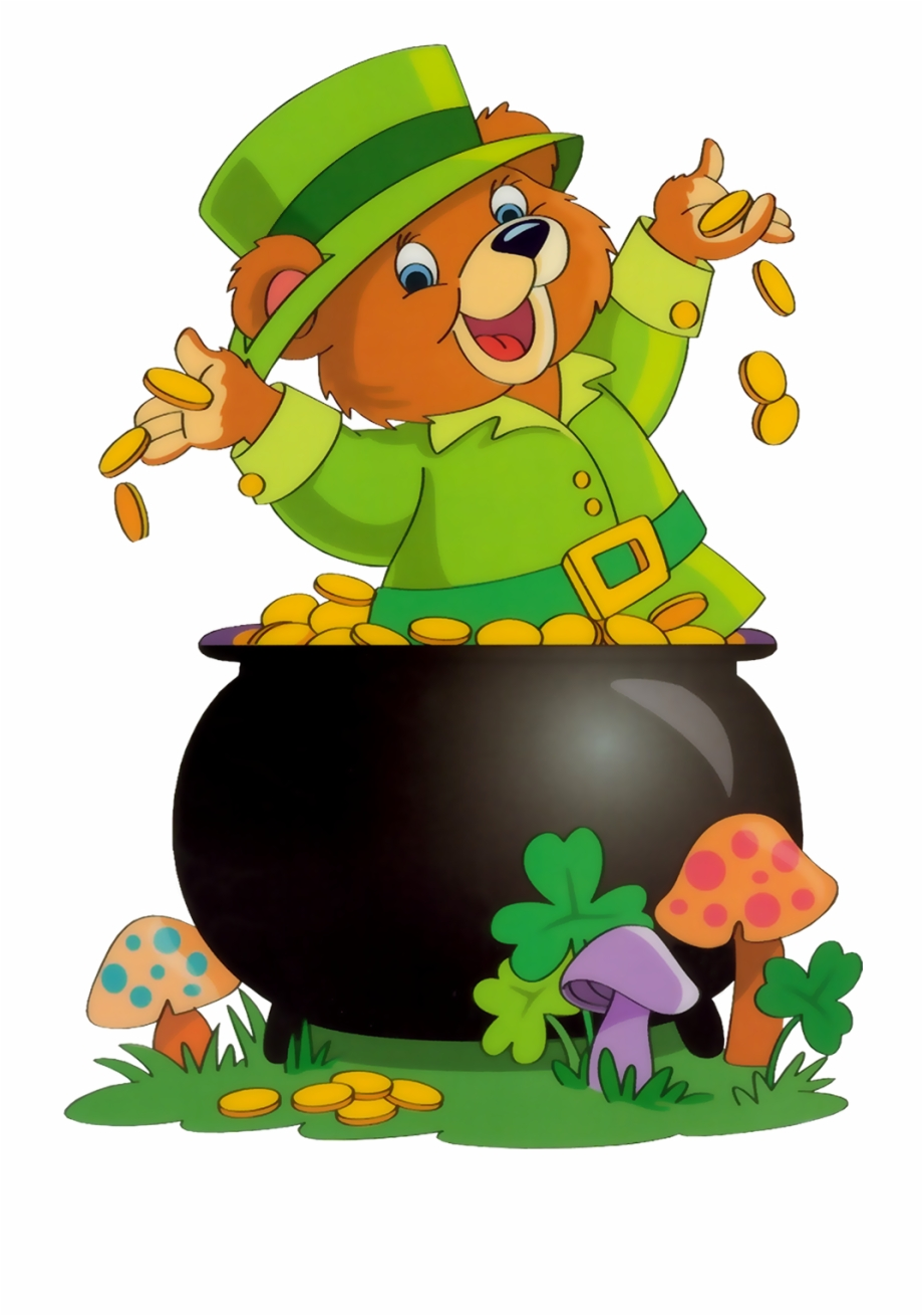St Patricks Clipart Bear.