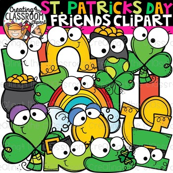 St. Patrick's Day Friends Clipart {St. Patricks Day Clipart}.