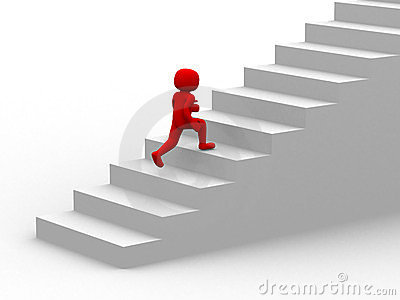 Animated Clipart Of Climbing Stairs.