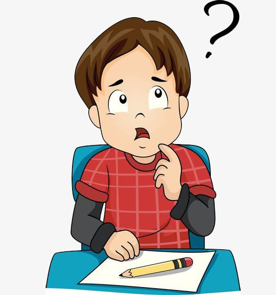 A Thinking Boy, Thinking Clipart, Boy Clipart, The Lecture.
