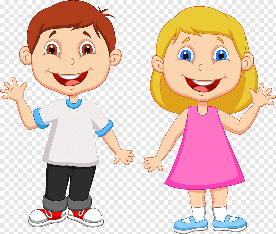 Girl and boy smiling, Cartoon Boy, student free png.