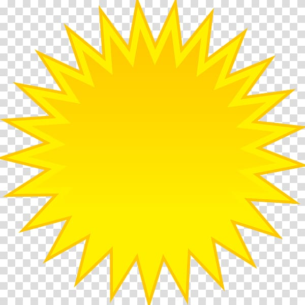 Sunlight Yellow , Animated Sun transparent background PNG.