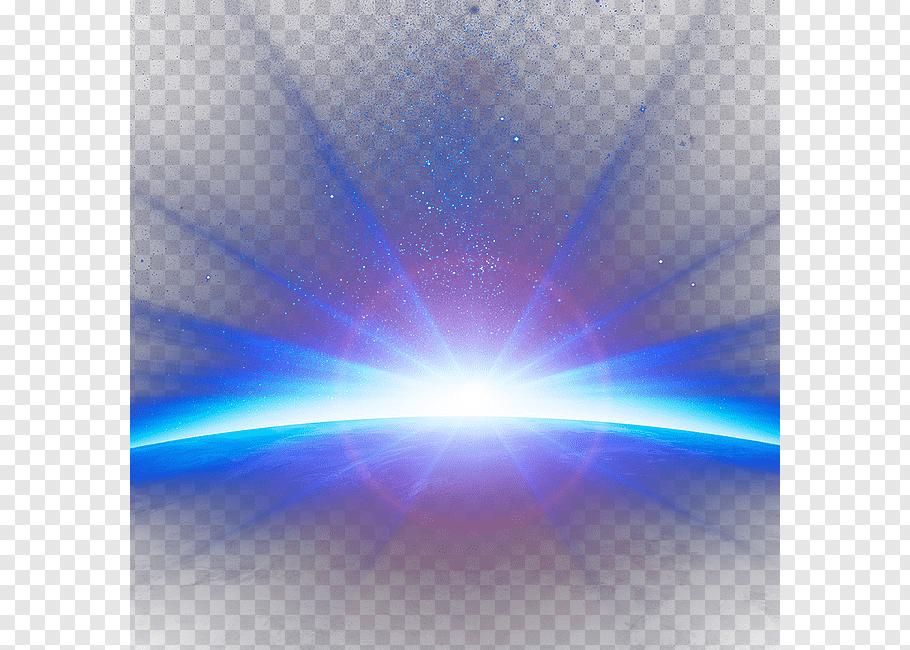 Animated sun rays, Blue Sky Atmosphere, Beautiful night sky.