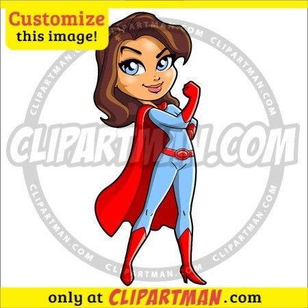 Super Mom cartoon and Super Teacher clipart.