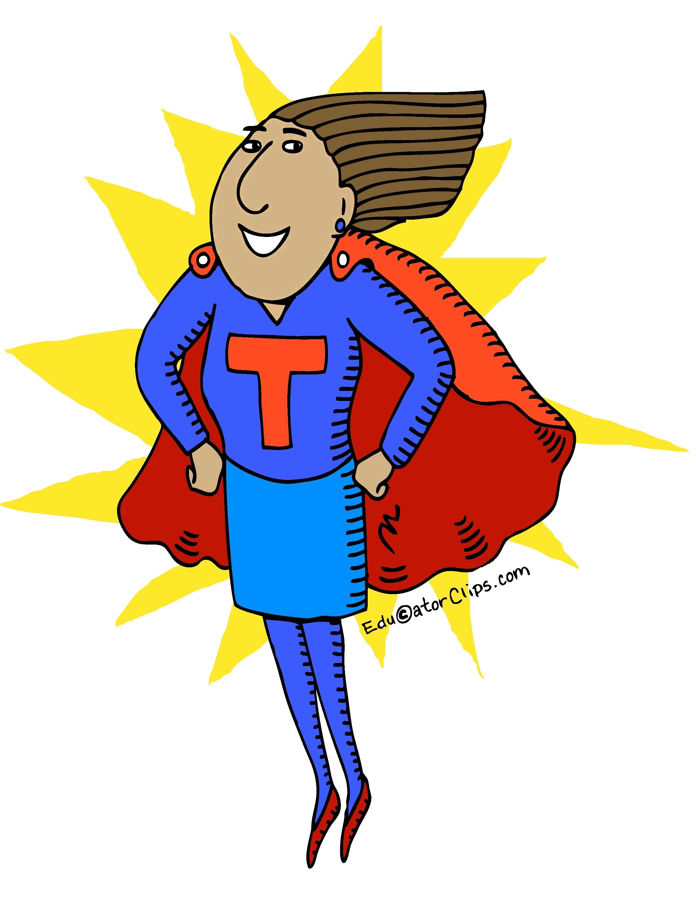 Super Teacher Clip Art.