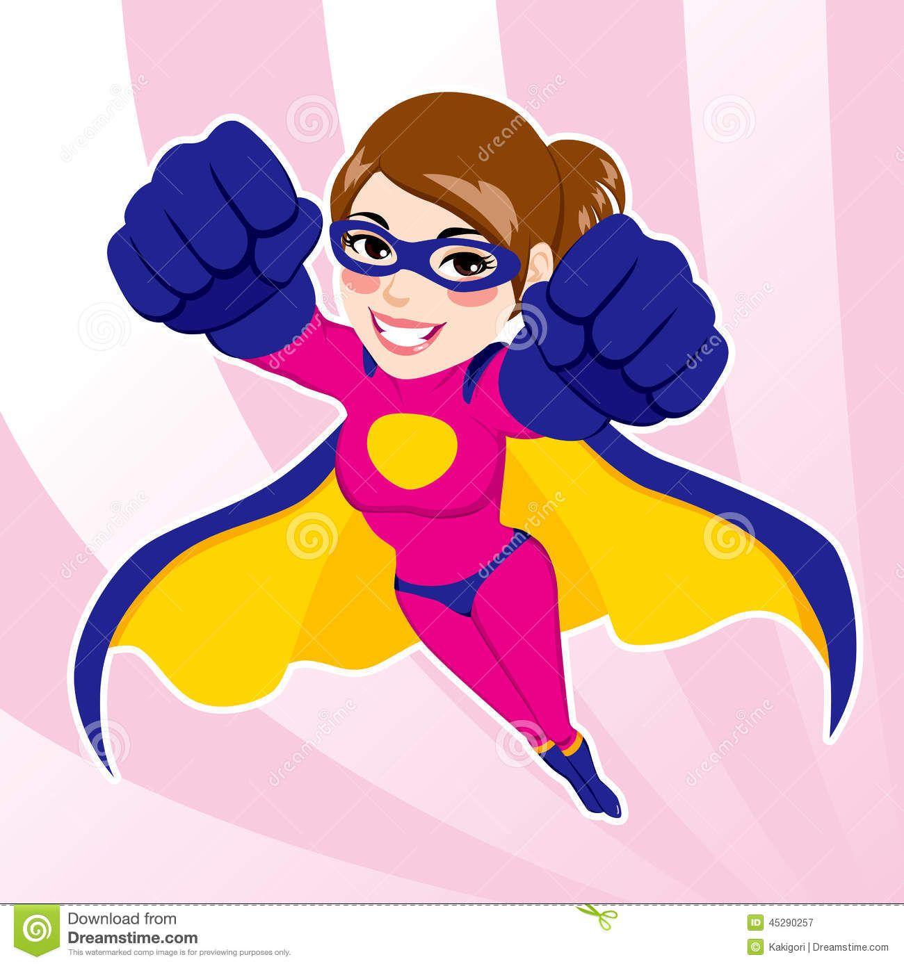 woman superheroes clipart.