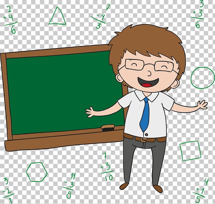 Teachers Day Cartoon , Happy smiling teacher, animated brown.