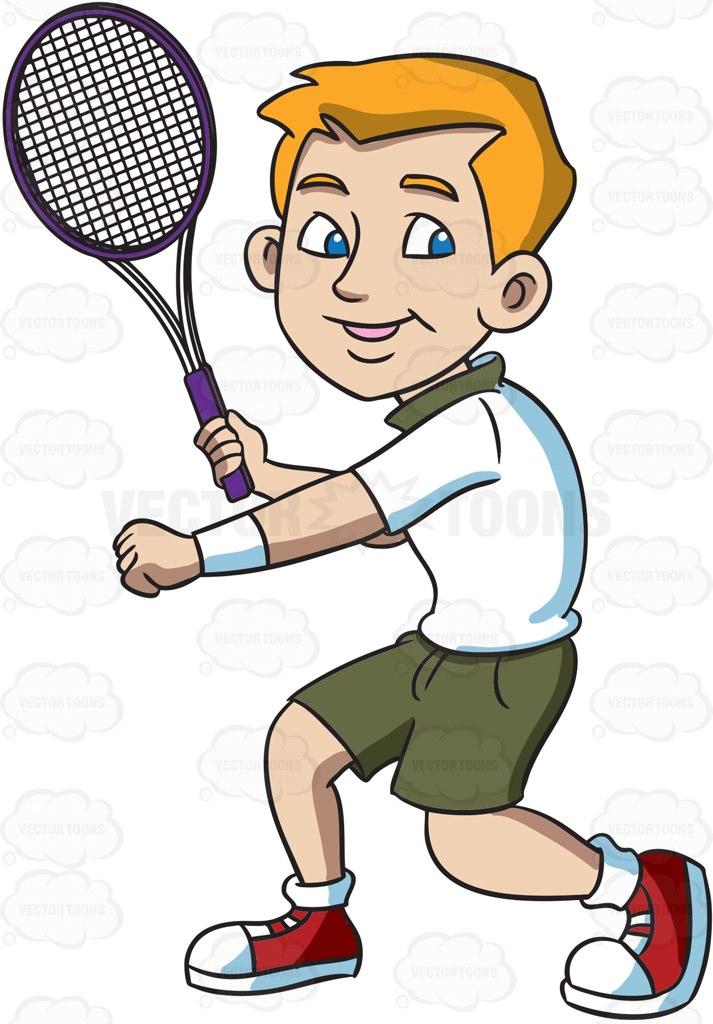 Tennis Cartoon Clipart.