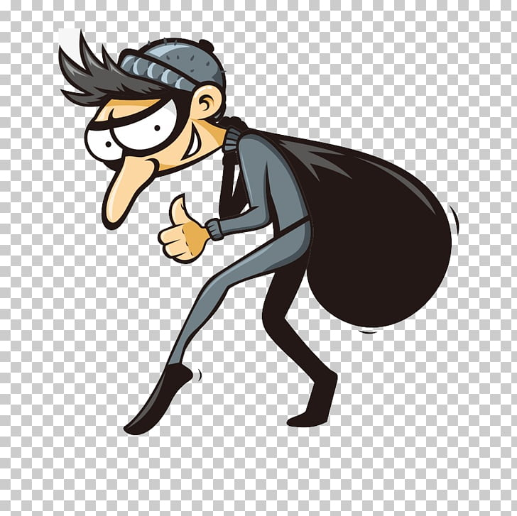 Theft Robbery Cartoon , thief PNG clipart.