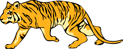 Animated tiger clip art clipart image #7333.