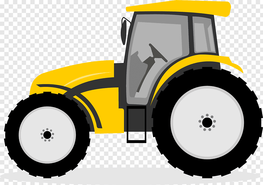 Yellow and black tractor, Tractor Cartoon John Deere.