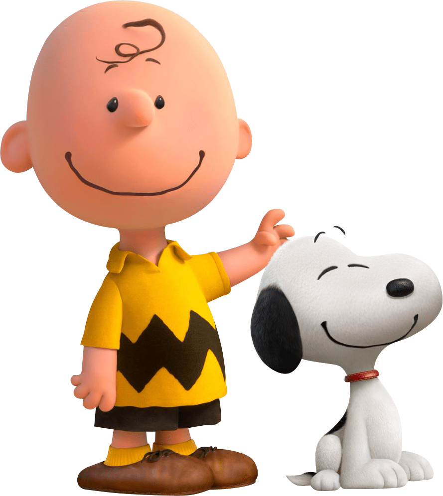 Charlie Brown and Snoopy transparent PNG.
