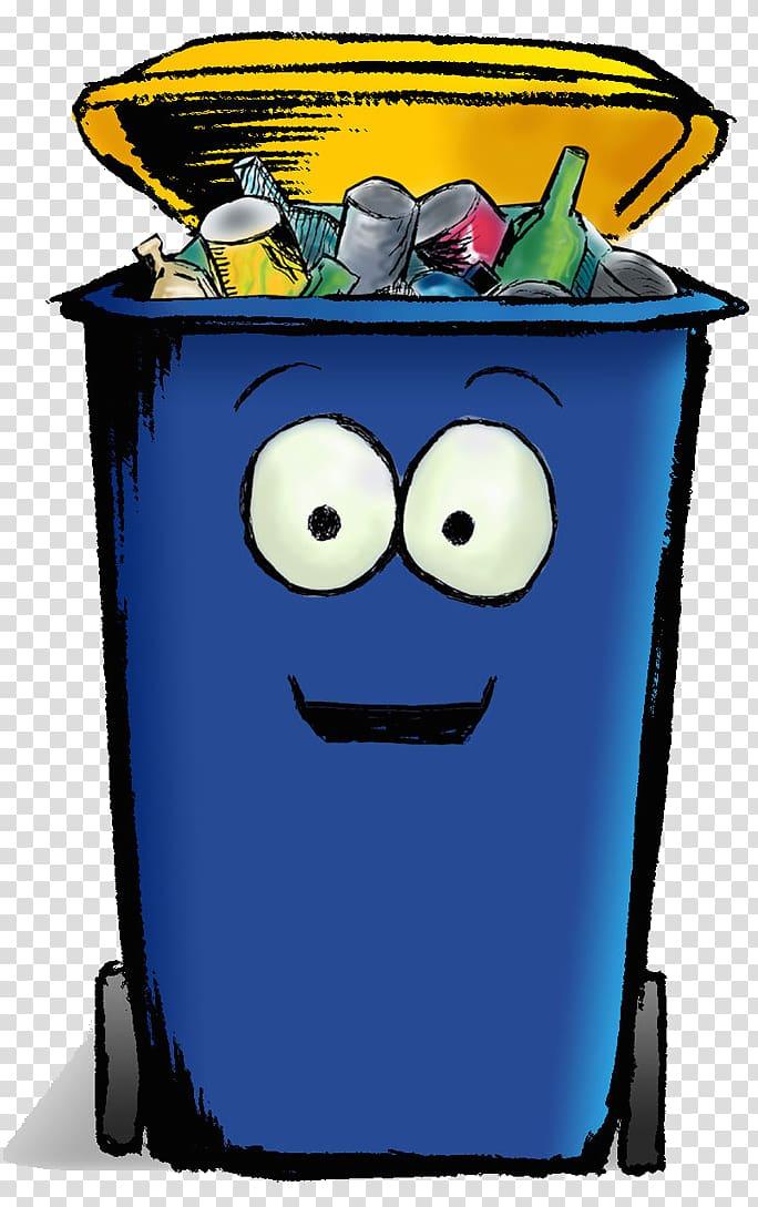 Rubbish Bins & Waste Paper Baskets Cartoon Recycling bin.
