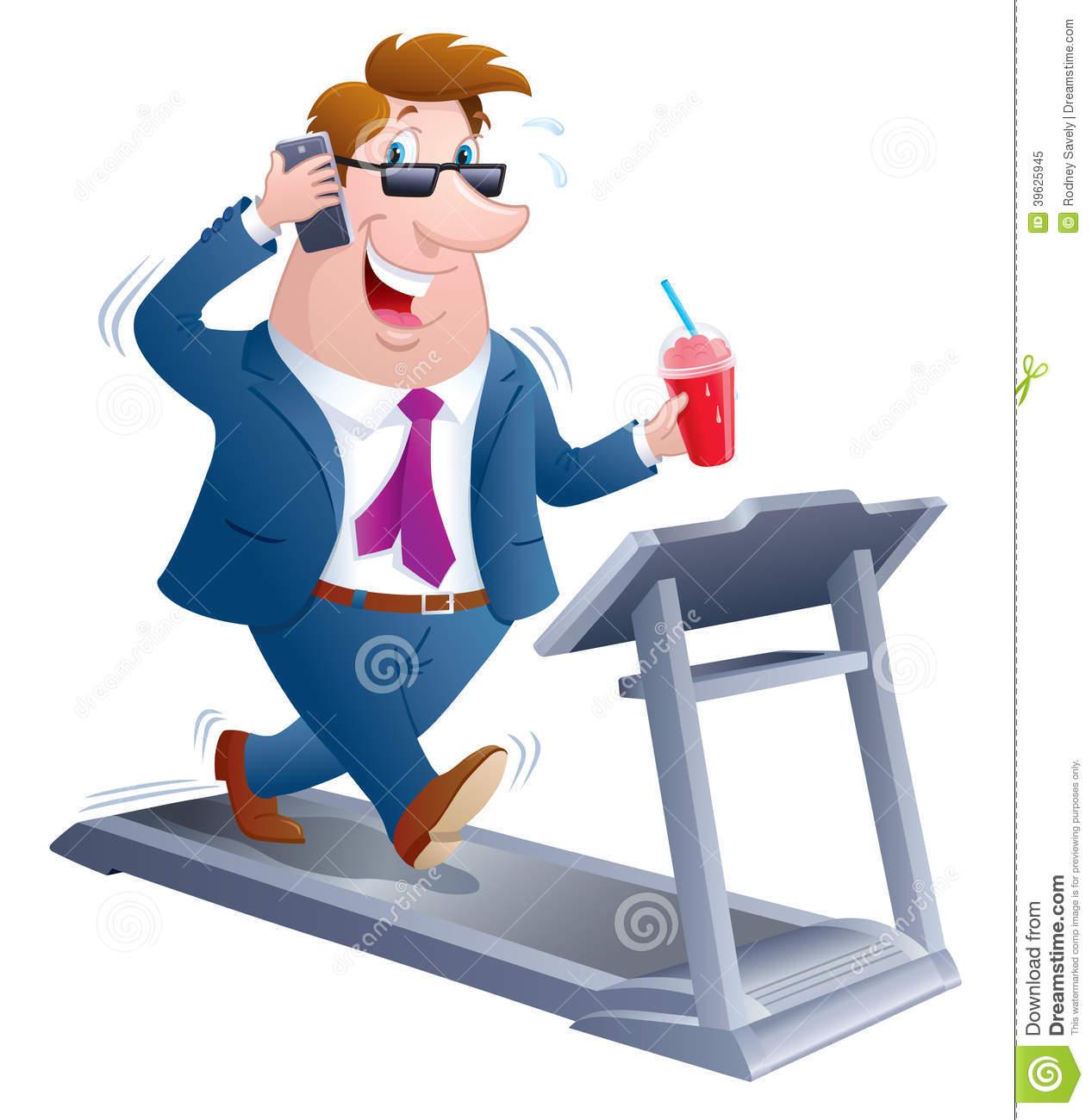 Animated Treadmill Clipart.