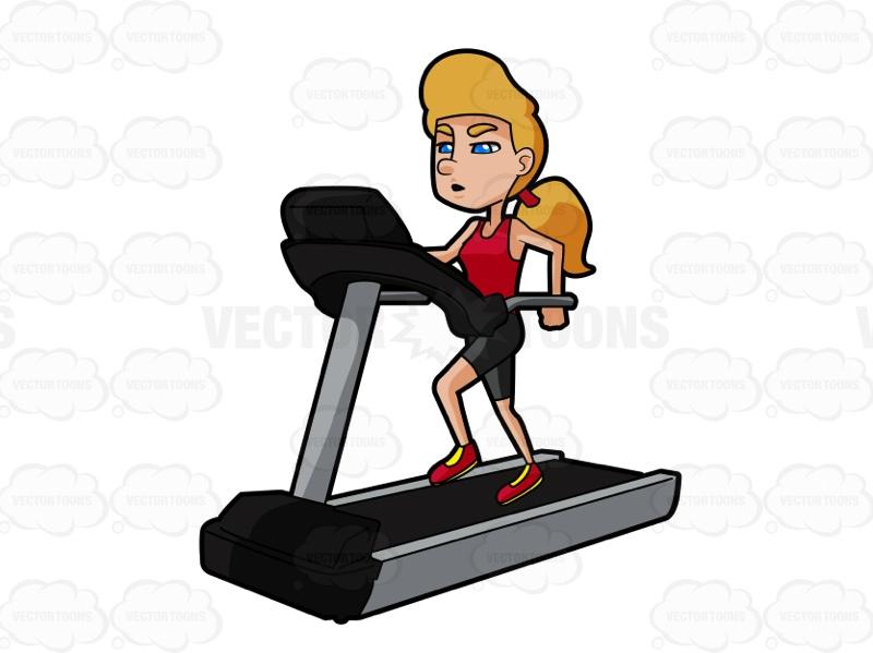 Similiar Woman On Treadmill Cartoon Keywords.