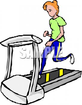 Animated Treadmill Clipart.