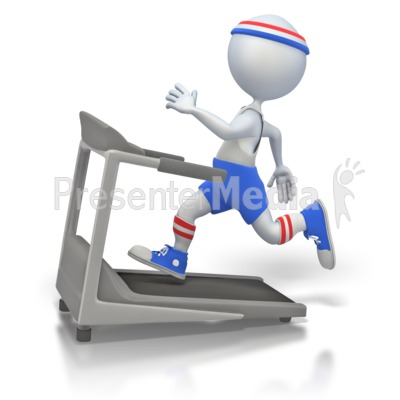 Working Out on Treadmill.