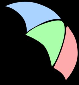 Colorful Cartoon Umbrella Clip Art at Clker.com.