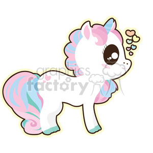 cartoon Unicorn 0 illustration clip art image clipart. Royalty.