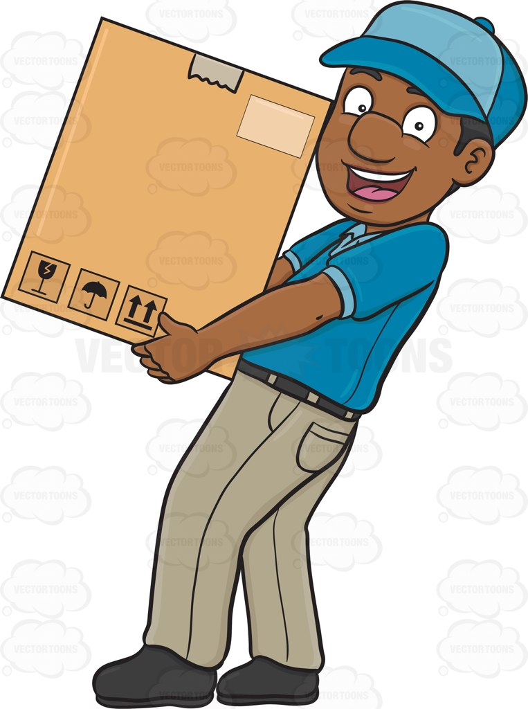 Ups Delivery Man Clipart.