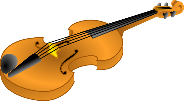 Brown Violin Clip Art at Clker.com.