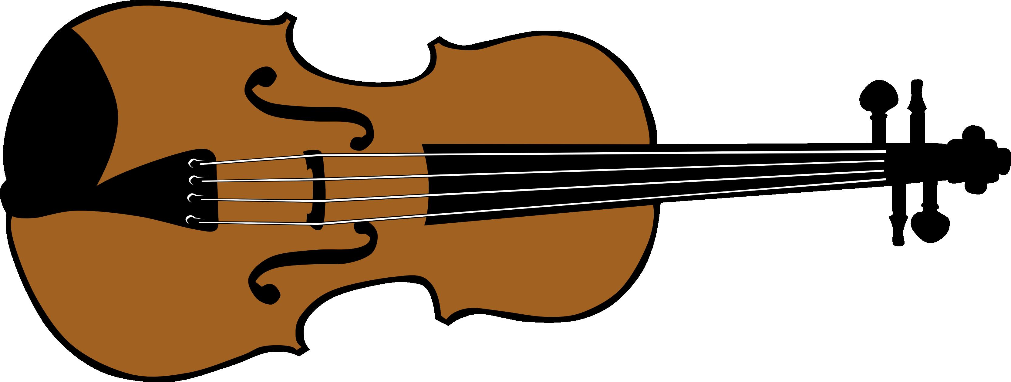 Cartoon violin clipart.
